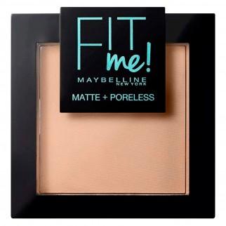 Maybelline New York Fit Me Matte & Poreless Cipria Opacizzante Colore 130 Buff Beige con Applicatore e Specchietto