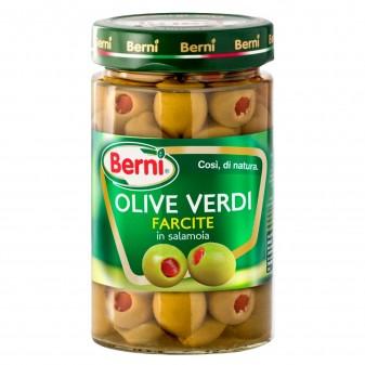 Berni Olive Verdi Farcite in Salamoia - Vasetto da 310g