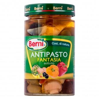 Berni Antipasto Fantasia Mix di Verdure Sottolio - Vasetto da 285g