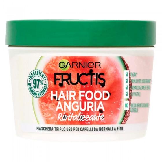Garnier Fructis Maschera per Capelli Hair Food Rivitalizzante all'Anguria 3in1 - Barattolo da 390ml
