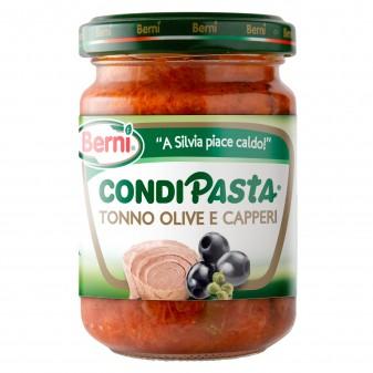 Berni Condipasta Tonno Olive e Capperi - Vasetto da 130g