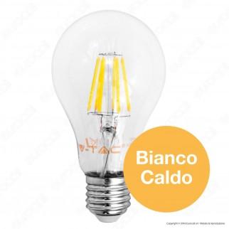 V-Tac VT-1989 Lampadina LED E27 8W Bulb A67 Filamento