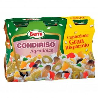 Berni Condiriso Agrodolce - 3 Vasetti da 300g