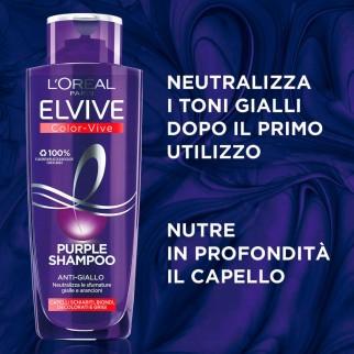 L'Oréal Paris Elvive Kit Color-Vive Purple Shampoo e Balsamo Anti-Giallo - 3 Pezzi