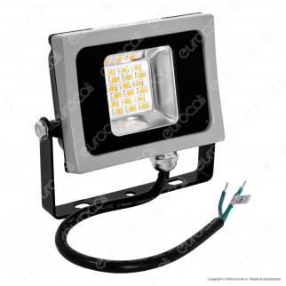 V-Tac VT-4810 Faretto LED SMD 10W Ultra Sottile da Esterno Colore Grigio e Nero