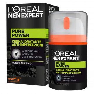 L'Oréal Paris Men Expert Pure Power 24H Crema Viso Idratante Anti-Imperfezioni