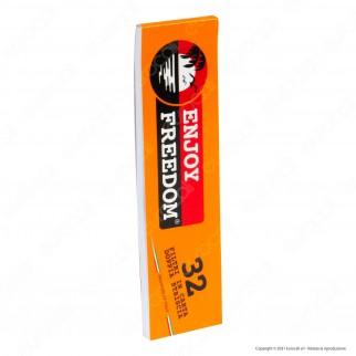 Enjoy Freedom Smoke Kit - 32 Cartine Lunghe + 32 Filtri in Carta + Accendino