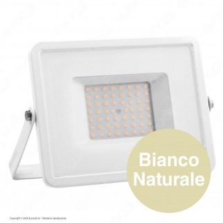 V-Tac PRO VT-50 Faro LED SMD 50W Ultrasottile Chip Samsung da Esterno Colore Bianco - SKU 409 / 410 / 411