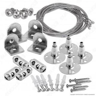 V-Tac Kit per Montaggio a Sospensione di Pannelli LED - SKU 6018
