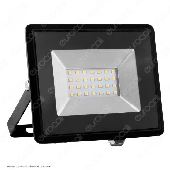 V-Tac VT-4021 E-Series Faro LED SMD 20W Ultra Sottile da Esterno Colore Nero - SKU 5946 / 5947 / 5948