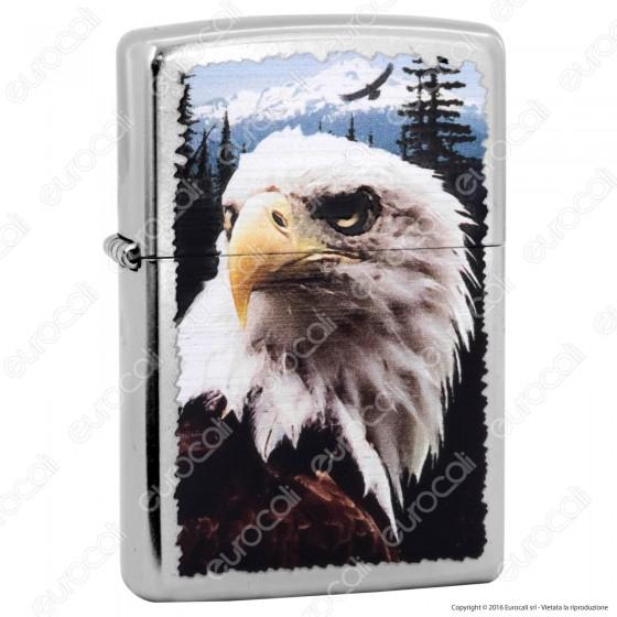 Accendino Zippo Mod. 28462 Eagle - Ricaricabile Antivento