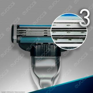 Gillette Mach3 Rasoio Uomo con 16 Lamette di Ricarica