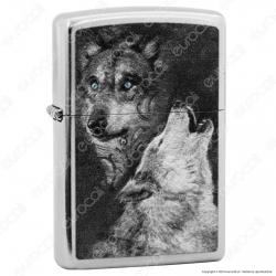 Accendino Zippo Mod. 14M011 Wolf - Ricaricabile Antivento