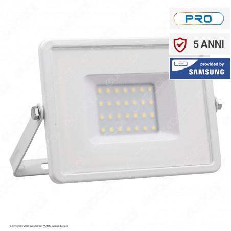 V-Tac PRO VT-30 Faro LED SMD 30W Ultrasottile Chip Samsung da Esterno Colore Bianco - SKU 403 / 404 / 405