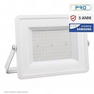 V-Tac PRO VT-100 Faro LED SMD 100W Ultrasottile Chip Samsung da Esterno Colore Bianco - SKU 415 / 416 / 417