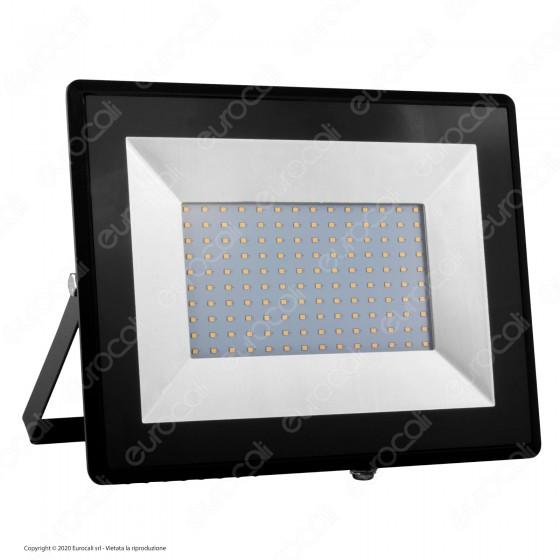 V-Tac VT-40101 E-Series Faro LED SMD 100W Ultra Sottile da Esterno Colore Nero - SKU 5964 / 5965 / 5966