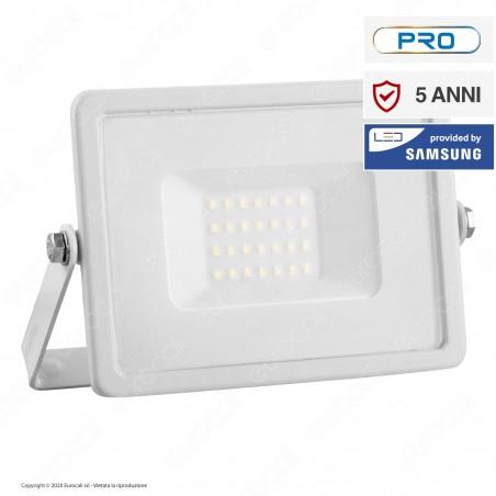V-Tac PRO VT-20 Faro LED SMD 20W Ultrasottile Chip Samsung da Esterno Colore Bianco - SKU 442 / 443 / 444
