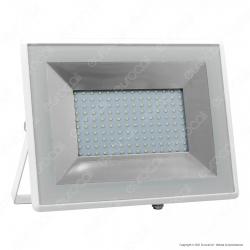 V-Tac VT-40101 E-Series Faro LED SMD 100W Ultra Sottile da Esterno Colore Bianco - SKU 5967 / 5968 / 5969