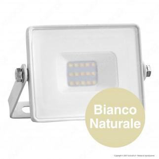 V-Tac PRO VT-10 Faro LED SMD 10W Ultrasottile Chip Samsung da Esterno Colore Bianco - SKU 427 / 428 / 429