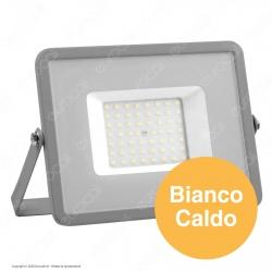 V-Tac PRO VT-50 Faro LED SMD 50W Ultrasottile Chip Samsung da Esterno Colore Grigio - SKU 463 / 464 / 465