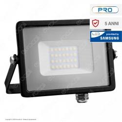 V-Tac PRO VT-20 Faro LED SMD 20W Ultrasottile Chip Samsung da Esterno Colore Nero - SKU 439 / 440 / 441