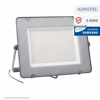 V-Tac PRO VT-306 Faro LED SMD 300W High Lumens Ultrasottile Chip Samsung da Esterno Colore Grigio