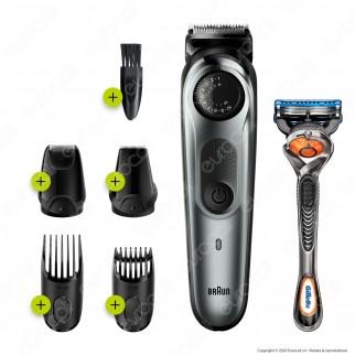 Braun BT7220 Regolabarba e Tagliacapelli e King C Gillette Olio Idratante per Barba e Viso 3 Flaconcini da 30ml
