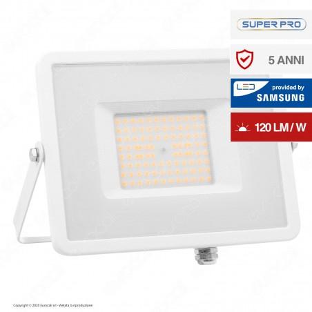 V-Tac PRO VT-56 Faro LED SMD 50W High Lumens Ultrasottile Chip Samsung da Esterno Colore Bianco - SKU 762 / 763