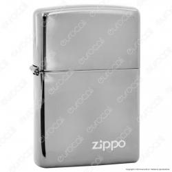 Accendino Zippo Mod. 150ZL Black Ice con Logo - Ricaricabile Antivento