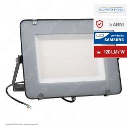 V-Tac PRO VT-206 Faro LED SMD 200W High Lumens Ultrasottile Chip Samsung da Esterno Colore Nero - SKU 778 / 779
