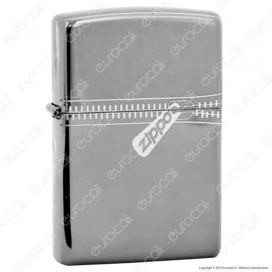 Accendino Zippo Mod. 21088 Black Ice Zipped - Ricaricabile Antivento
