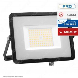 V-Tac PRO VT-56 Faro LED SMD 50W High Lumens Ultrasottile Chip Samsung da Esterno Colore Nero - SKU 760 / 761
