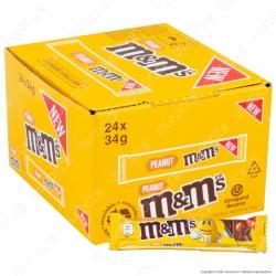 M&M's Peanut Barretta di Cioccolato al Latte con Confetti alle Arachidi - 24 Barrette da 34g