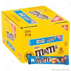 M&M's Crispy Tavoletta di Cioccolato al Latte con Confetti al Riso Soffiato - 24 Barrette da 31g