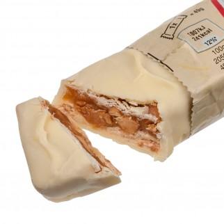 Snickers White Snack con Arachidi Croccanti e Caramello Ricoperto di Cioccolato Bianco Limited Edition - 32 Barrette da 49g