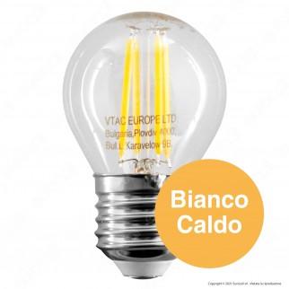 V-Tac VT-2366 Lampadina LED E27 6W MiniGlobo G45 Filament - SKU 2842 / 2843 / 2844