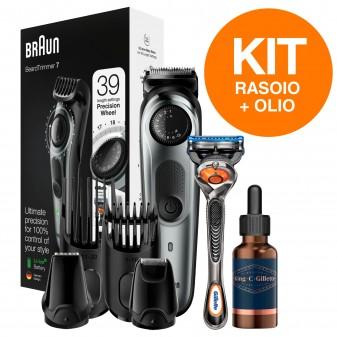 Braun BT7220 Regolabarba e Tagliacapelli e King C Gillette Olio Idratante per Barba e Viso 1 Flaconcino da 30ml