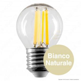 V-Tac VT-2386 Lampadina LED E27 6W MiniGlobo G45 Filament - SKU 2852