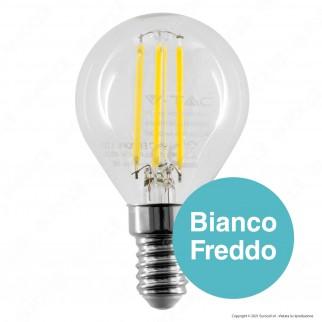 V-Tac VT-2486 Lampadina LED E14 6W MiniGlobo P45 Filament - SKU 2854 / 2855 / 2856