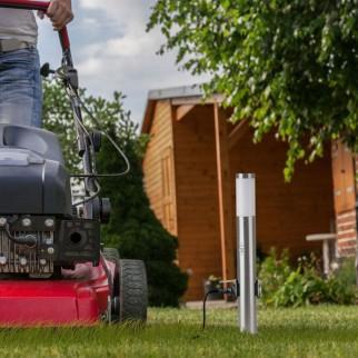 V-Tac VT-838 Lampione Portalampada da Giardino per Lampadine E27 con Fissaggio a Terra e Sensore di Movimento IP44 - SKU 8977