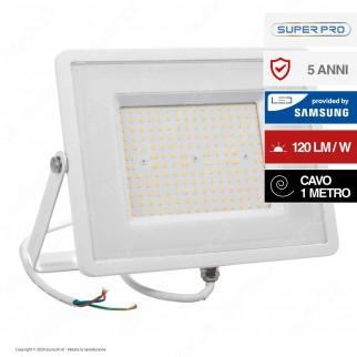 V-Tac PRO VT-106 Faro LED SMD 100W High Lumens Ultrasottile Chip Samsung da Esterno Colore Bianco - SKU 768 / 769