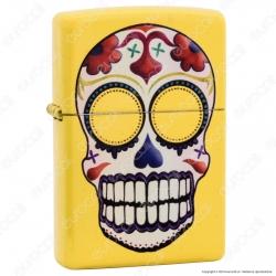 Accendino Zippo Mod. 24894 Skull Yellow - Ricaricabile Antivento
