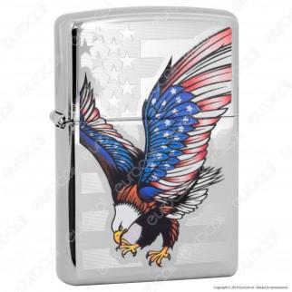 Accendino Zippo Mod. 128449 Eagle Flag For President - Ricaricabile Antivento