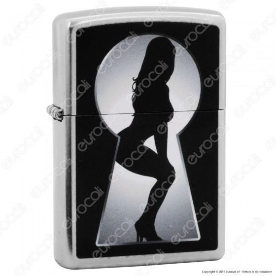 Accendino Zippo Mod. 14N029 Sexy Lady Keyhole - Ricaricabile Antivento