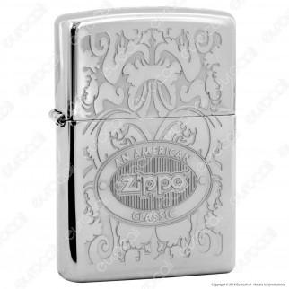 Accendino Zippo Mod. 24751 Crown Stamp - Ricaricabile Antivento