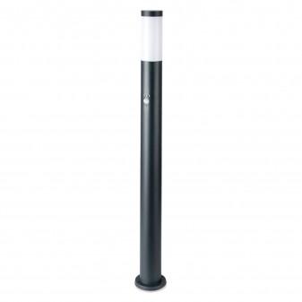 V-Tac VT-838 Lampione Portalampada da Giardino per Lampadine E27 Fissaggio a Terra e Sensore di Movimento IP44 110cm - SKU 8968