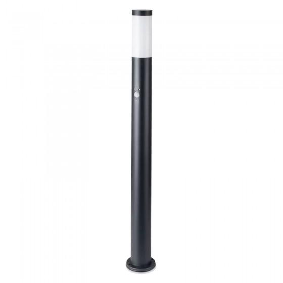 V-Tac VT-838 Lampione Portalampada da Giardino per Lampadine E27 Fissaggio a Terra e Sensore di Movimento IP44 110cm - SKU 8983