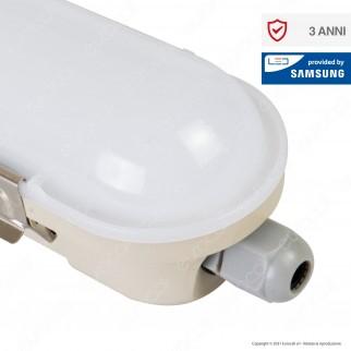 V-Tac VT-150048E Tubo LED Plafoniera M-Series 48W Lampadina 150cm Impermeabile IP65 con Kit di Emergenza - SKU 20221 / 20220