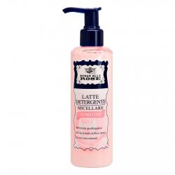Acqua alle Rose Latte Detergente Micellare Sensitive per Pelli Delicate con Estratto di Rosa Antica - Flacone da 200 ml