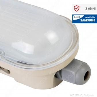 V-Tac VT-120136 Tubo LED Plafoniera M-Series 36W Lampadina 120cm Impermeabile IP65 - SKU 20219 / 20218